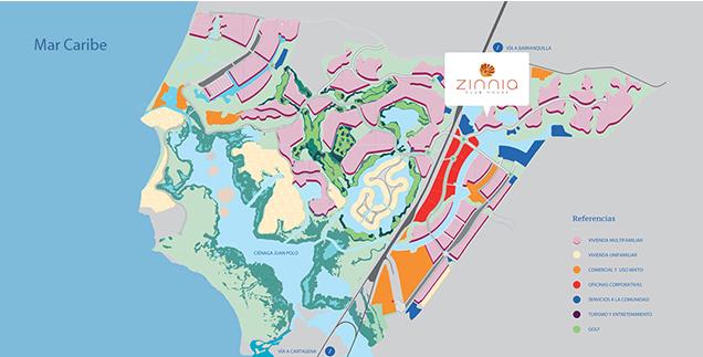 Zinnia_mapa_Serena_del_Mar_Cartagena