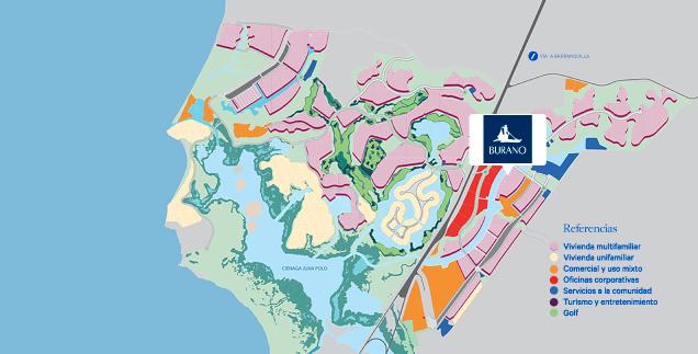Mapa_Burano_Serena_del_Mar_Cartagena