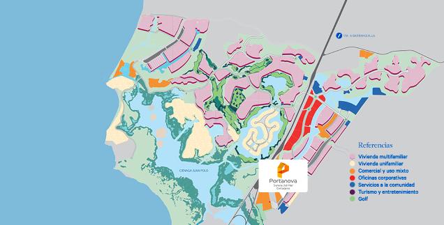 Portanova_mapa_Serena_del_Mar_Cartagena