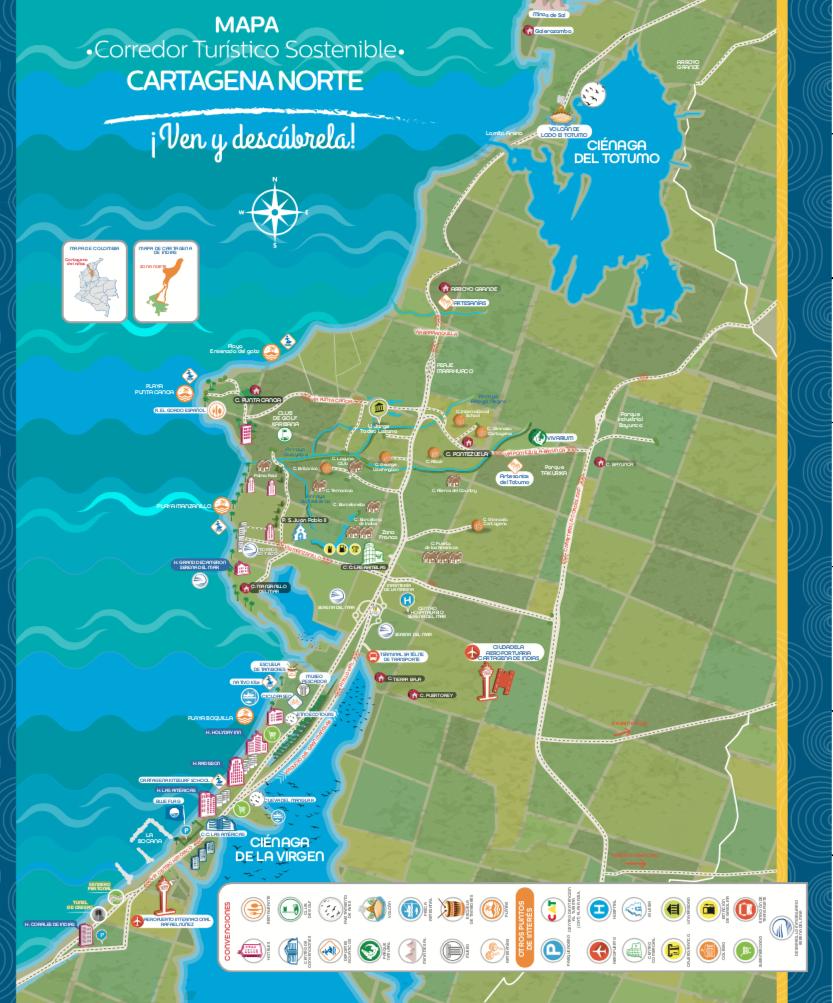 Cartagena corredor turísticos sostenible