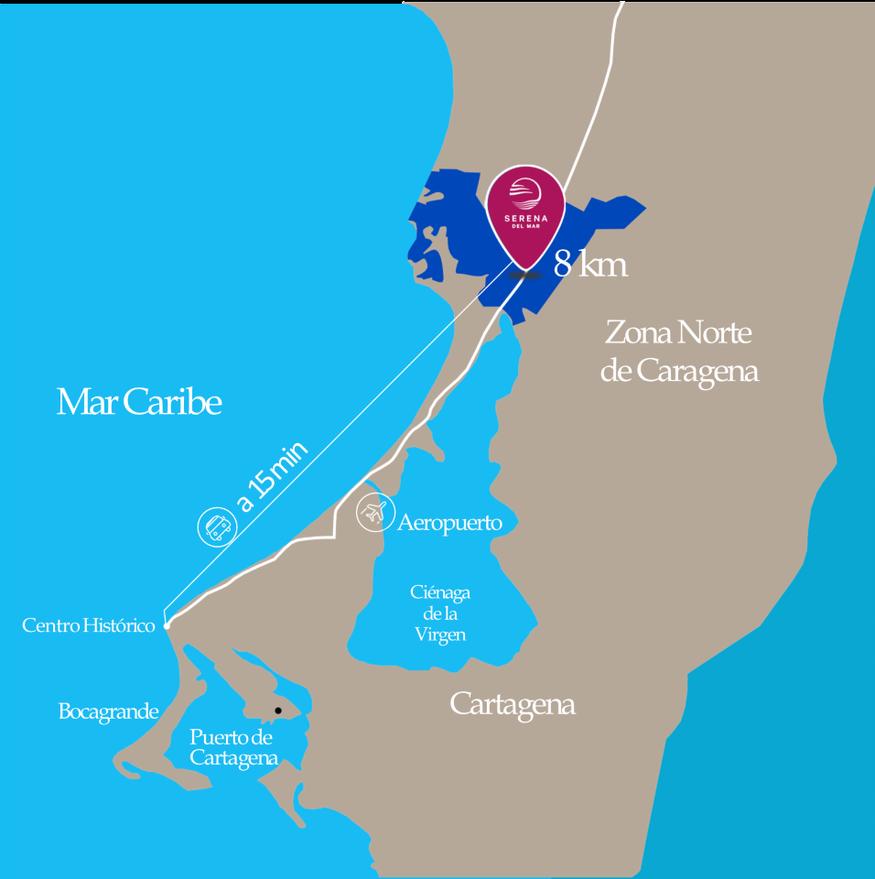 Serena del Mar ubicación
