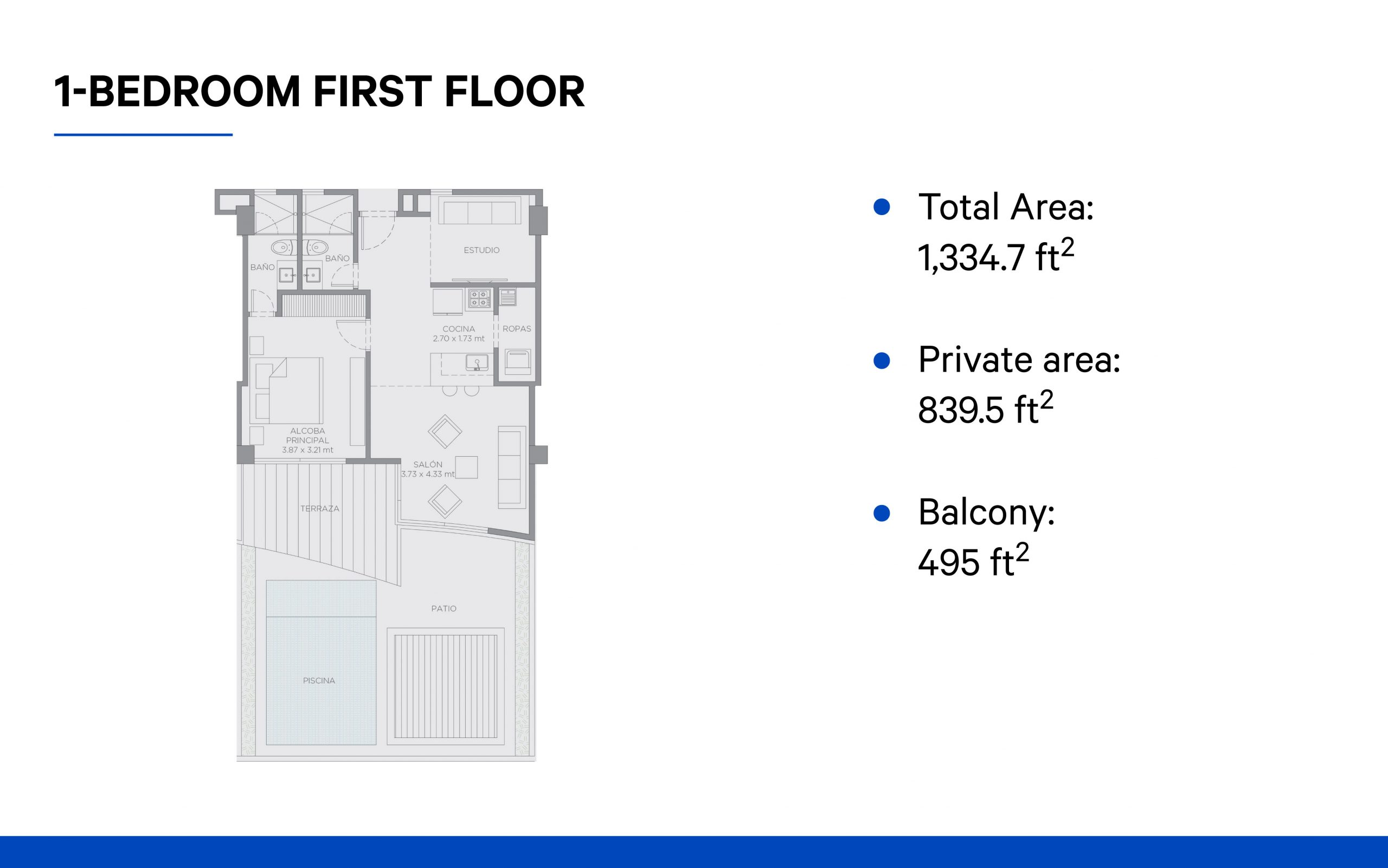 1-bedroom (first floor)